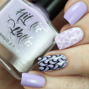 "Hit the Bottle ""Iced Mauve-jito"" Stamping Polish"