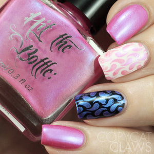 "Hit the Bottle ""I'm Pinking of Blue"" Stamping Polish"