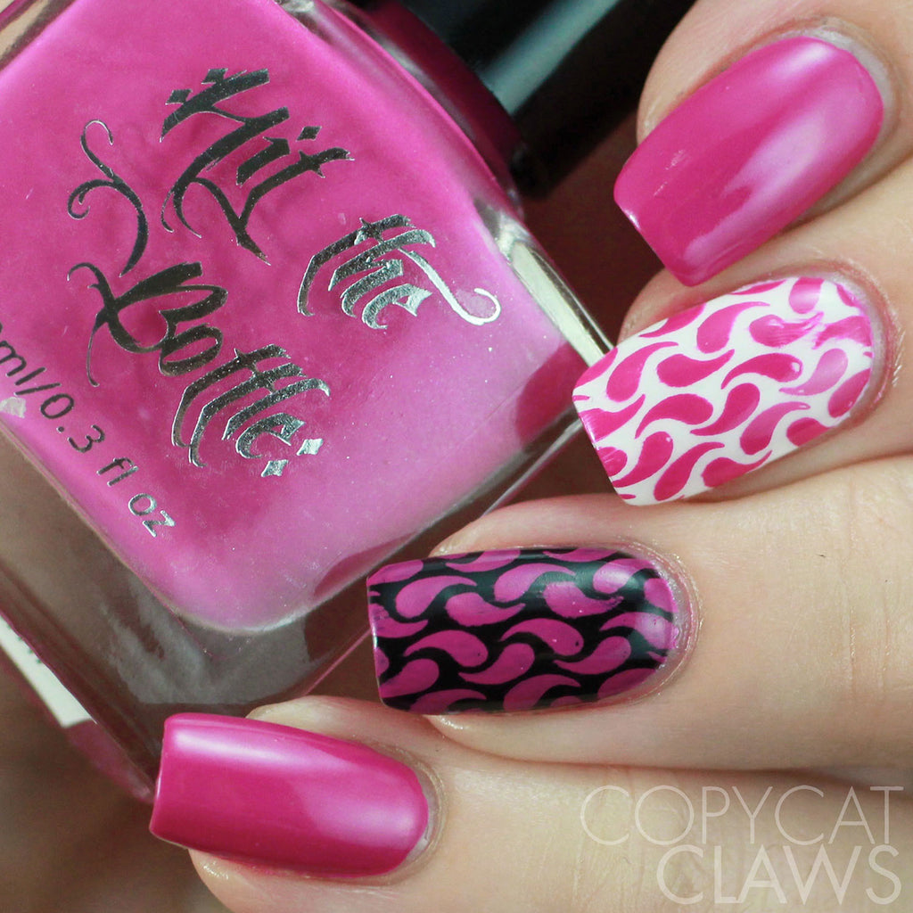 "Hit the Bottle ""Join the Cerise Force"" Stamping Polish"