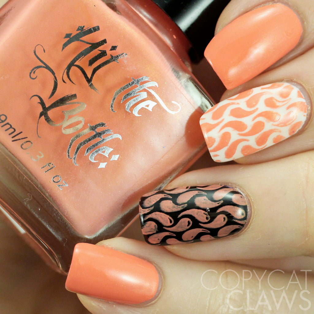 "Hit the Bottle ""Let's go to the Peach"" Stamping Polish"