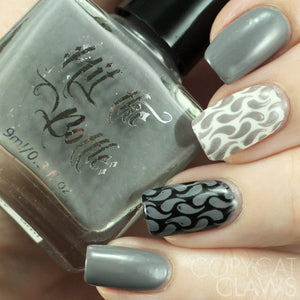 "Hit the Bottle ""Looking for Mr. Grey"" Stamping Polish"