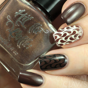 "Hit the Bottle ""Make Mine a Mudslide"" Stamping Polish"