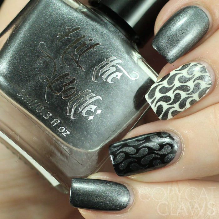 "Hit the Bottle ""My Suitor Wears Pewter"" Stamping Polish"