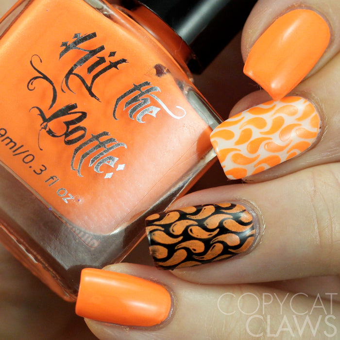 "Hit the Bottle ""Orange You Excited?"" Neon Stamping Polish"