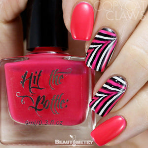 hit the bottle pink jelly nail polish