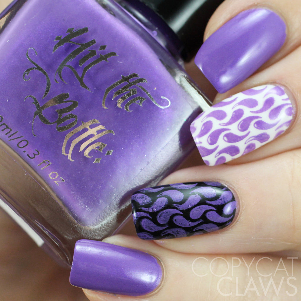 "Hit the Bottle ""Purple Dragon"" Stamping Polish"