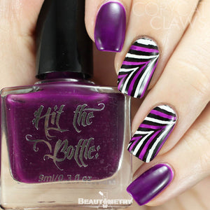 hit the bottle purple jelly nail polish