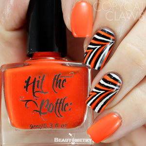 hit the bottle orange jelly nail polish