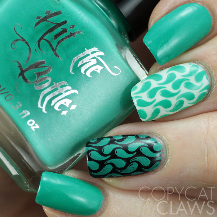 "Hit the Bottle ""Seas the Day"" Neon Stamping Polish"