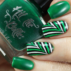 hit the bottle green jelly nail art