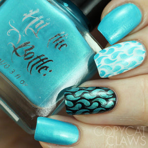 "Hit the Bottle ""Sparkling Cyan-ide"" Stamping Polish"