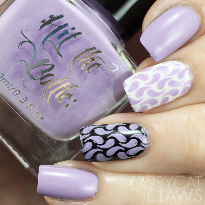 "Hit the Bottle ""Stop and Smell the Lilacs"" Stamping Polish"