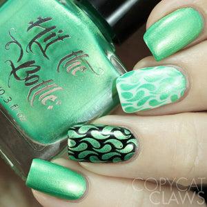sweet child lime stamping nail polish