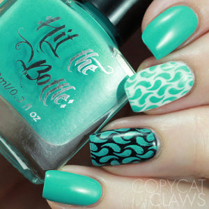 "Hit the Bottle ""Tipsy Grasshopper"" Stamping Polish"