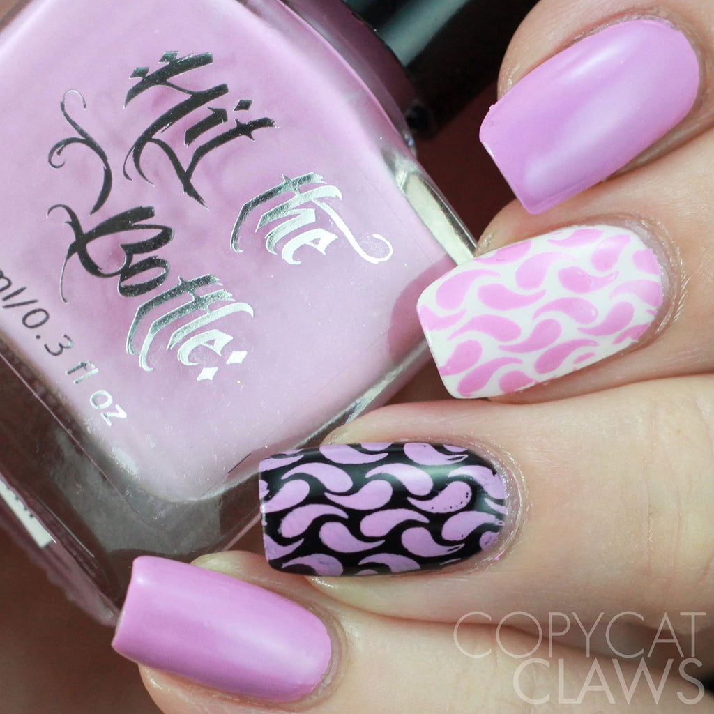 "Hit the Bottle ""Having a Quiet Pink"" Stamping Polish"