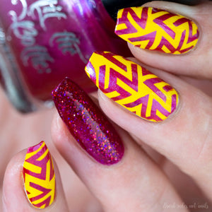 "Hit the Bottle ""Your Fuchsia Looks Bright"" Stamping Polish"