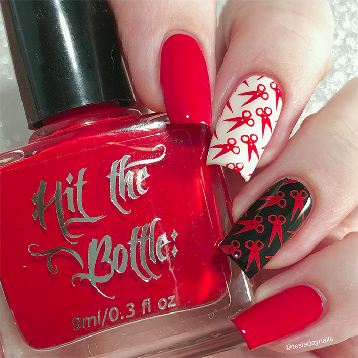 "Hit the Bottle ""A Vermillion to One"" Stamping Polish"