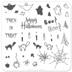 Clear Jelly Stamper- H-04- Halloween Trick or Treat?
