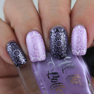 "Hit the Bottle ""I like to Mauve it, Mauve it 2.0"" Stamping Polish"
