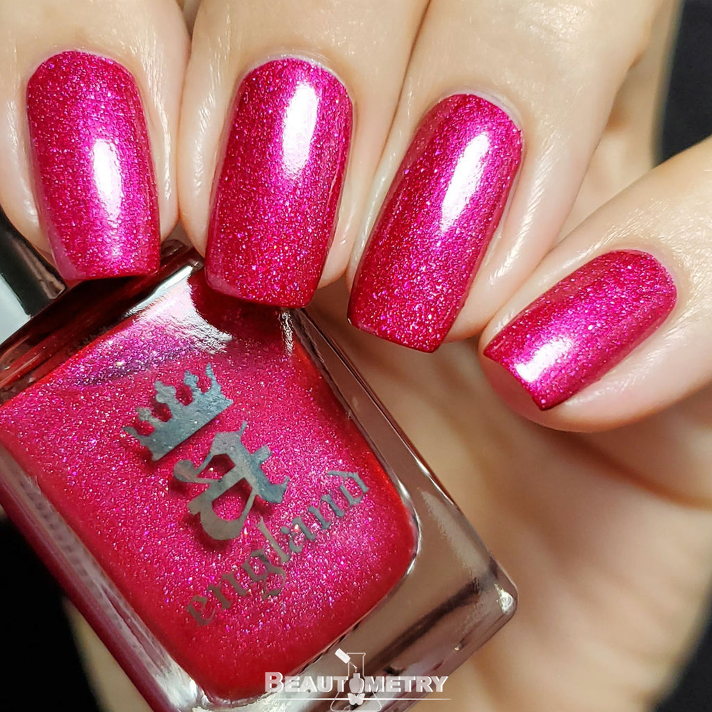 into rose garden holographic rose nail polish