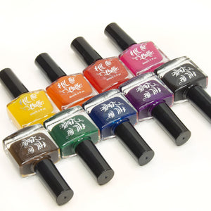 Hit the Bottle Jelly Shot collection has jelly polishes for leadlighting and watermarbling.
