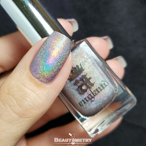 a-england grey holographic nail polish