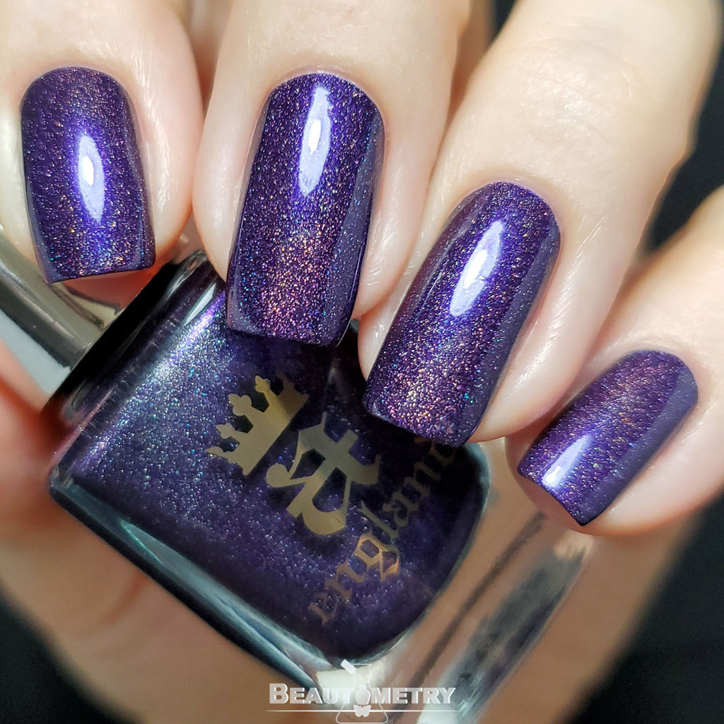 lenore purple holographic nail polish