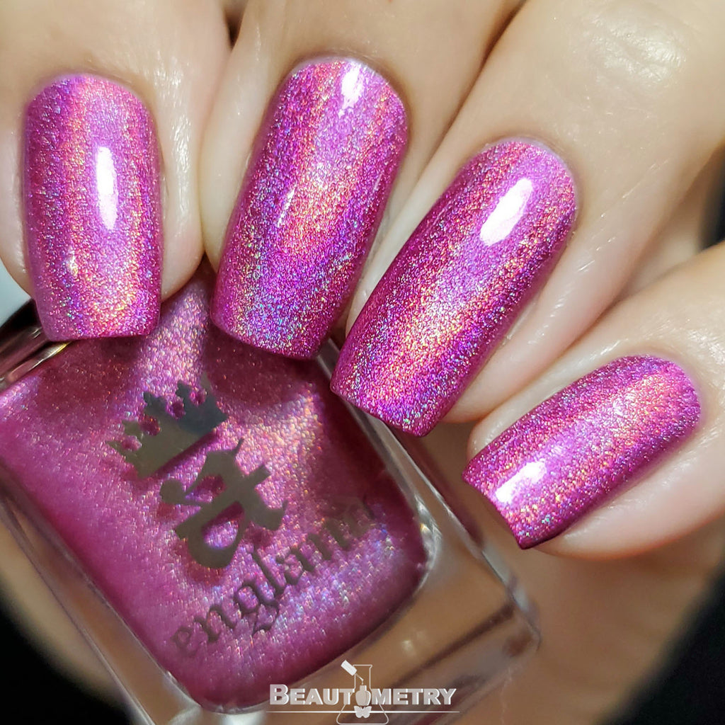 london calling pink holographic nail polish