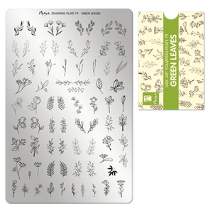Moyra Stamping Plate 79- Green Leaves