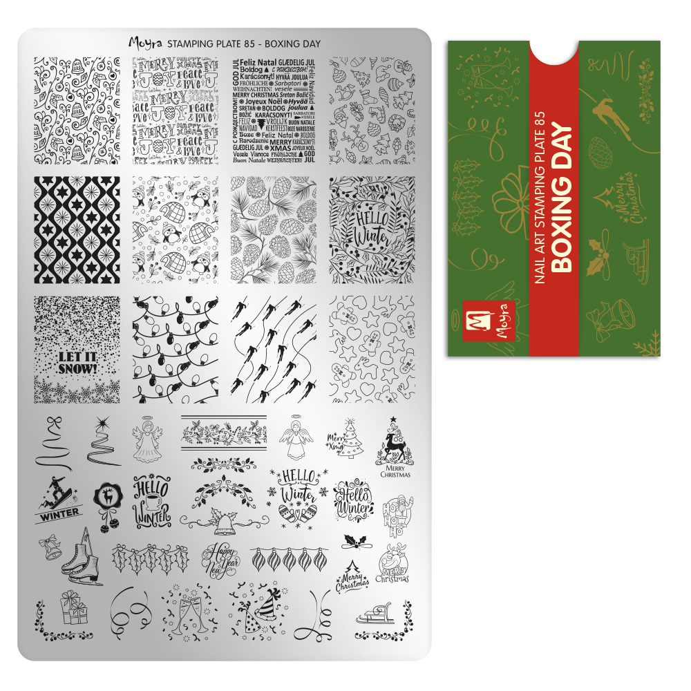 Moyra Stamping Plate 85- Boxing Day