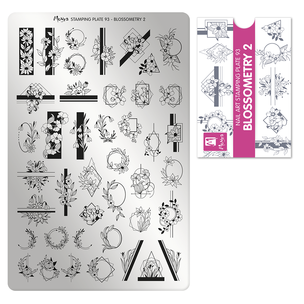 Moyra Stamping Plate 93- Blossometry 2