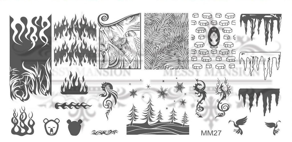 Messy Mansion MM Series XL Stamping Plates XL27