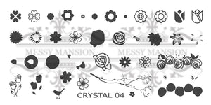 Messy Mansion Crystal Stamping Plates CR04