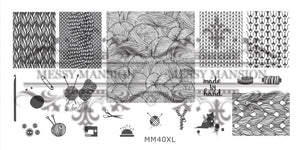 Messy Mansion MM Series XL Stamping Plates XL40