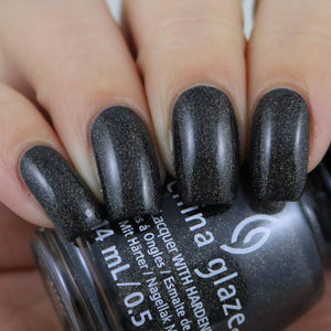 China Glaze- Paint It Black- Maliboo-Boo