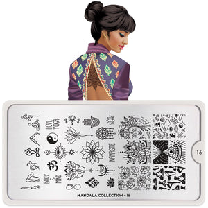 MoYou London Mandala 16- Yoga Nail Stamping Plate. Available at www.beautometry.com.