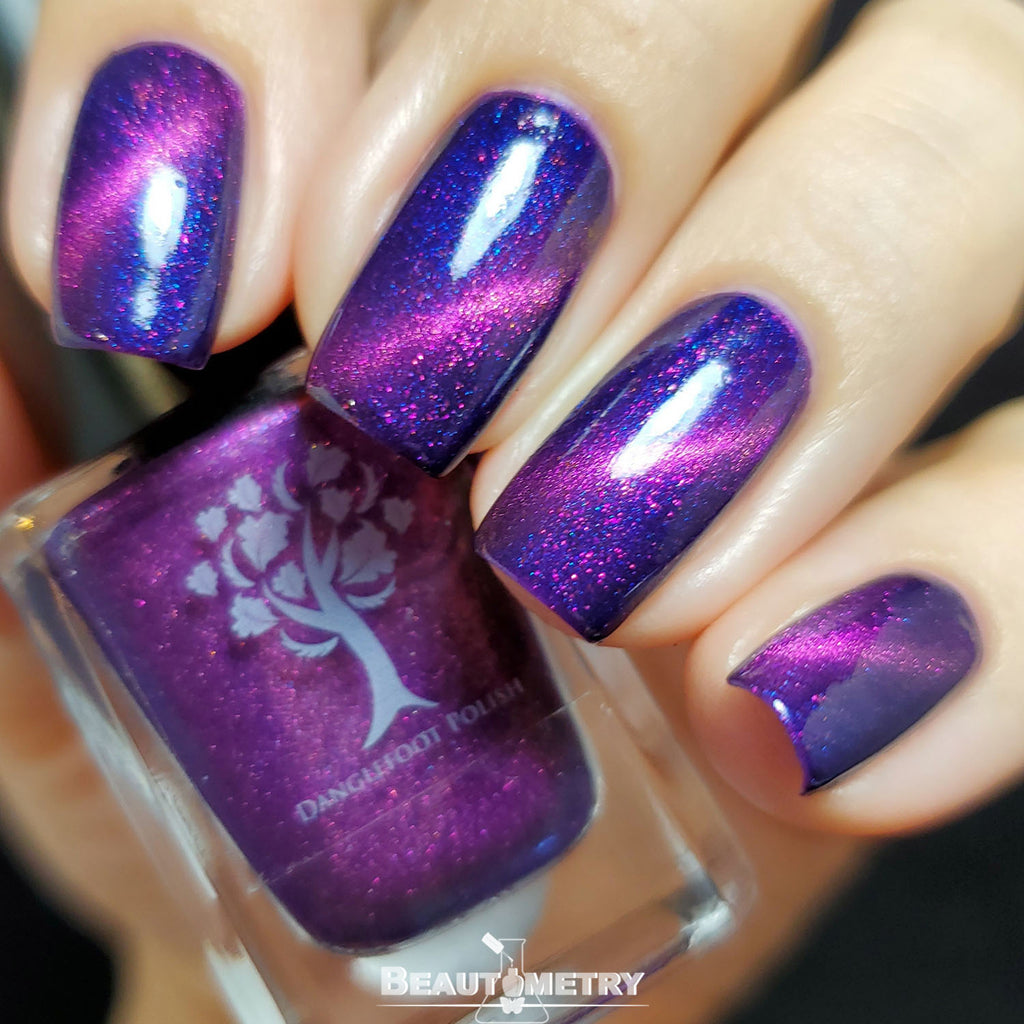 purple magnetic nail polish