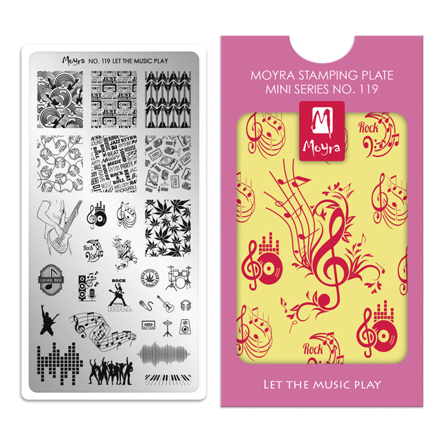 Moyra Mini Stamping Plate 119- Let the Music Play