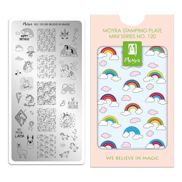 Moyra Mini Stamping Plate 120- We Believe in Magic