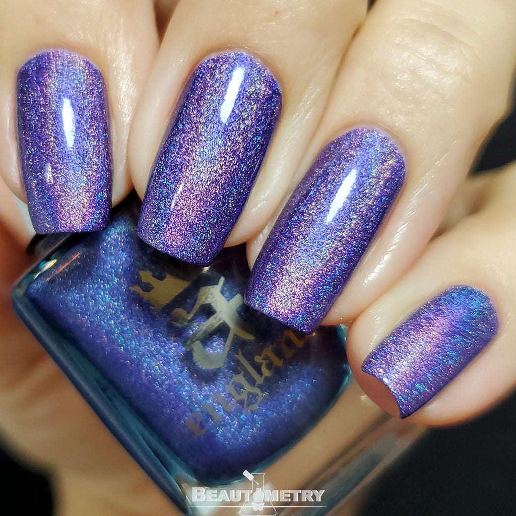 new romantic violet holographic nail polish