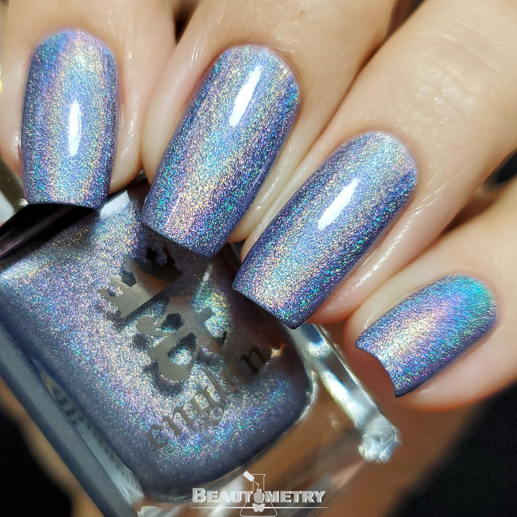 pride without prejudice blue holographic nail polish