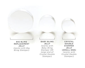 Clear Jelly Stamper- Baby Bling Replacement Jelly (2 pk.)