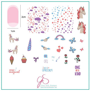 Clear Jelly Stamper- CjS-094- Lil Unicorn