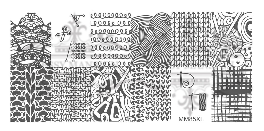 Messy Mansion MM Series XL Stamping Plates XL85