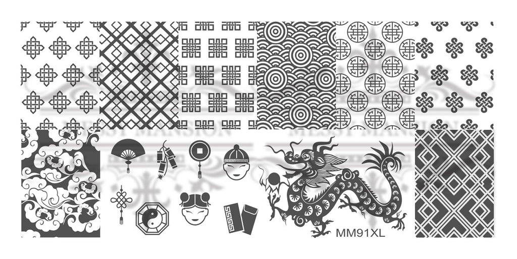Messy Mansion MM Series XL Stamping Plates XL91