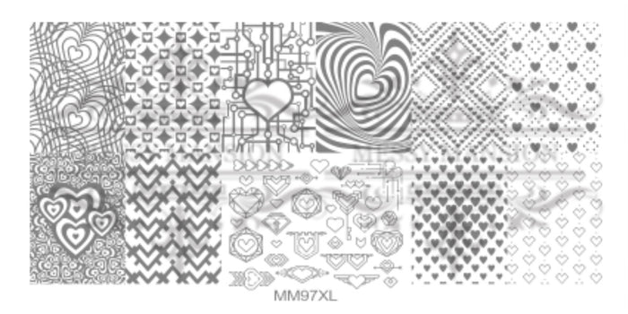 Messy Mansion MM Series XL Stamping Plates XL97