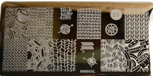 Messy Mansion MM Series XL Stamping Plates XL84