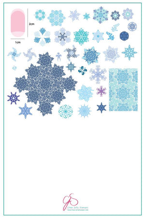 Clear Jelly Stamper- CjS-143- Frozen Flakes