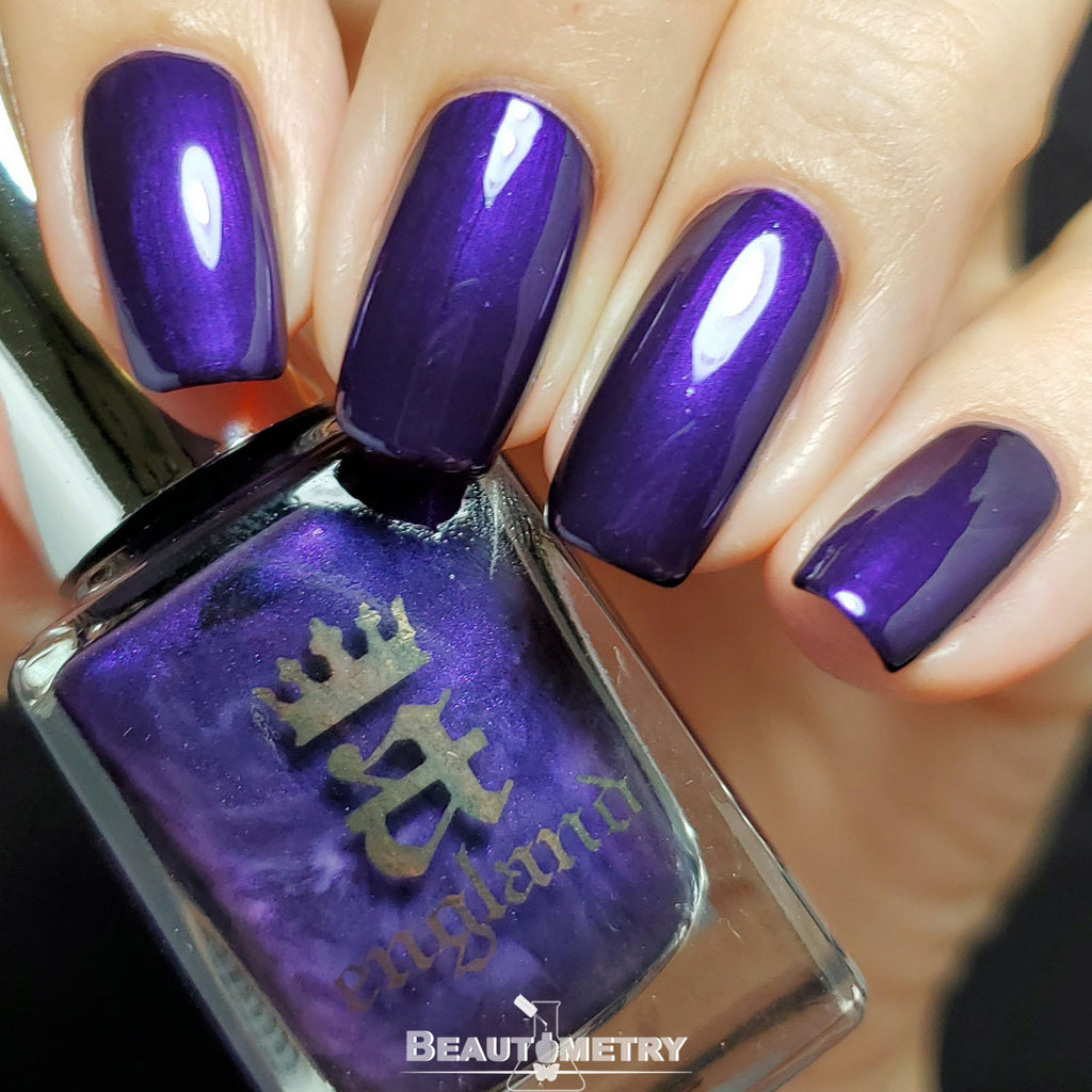 blessed damozel purple nail polish