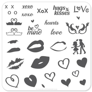 Clear Jelly Stamper- V-01- Luscious Lips & Love
